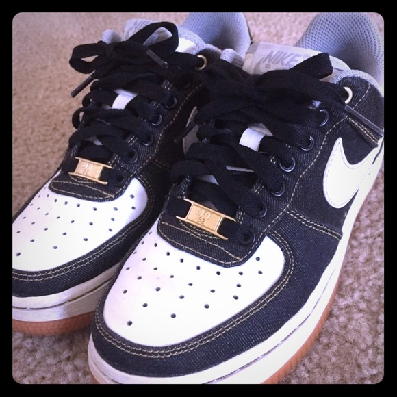 Mentalidad pintor Cereal  Nike Shoes | Nike Air Force Low Black Denim | Poshmark
